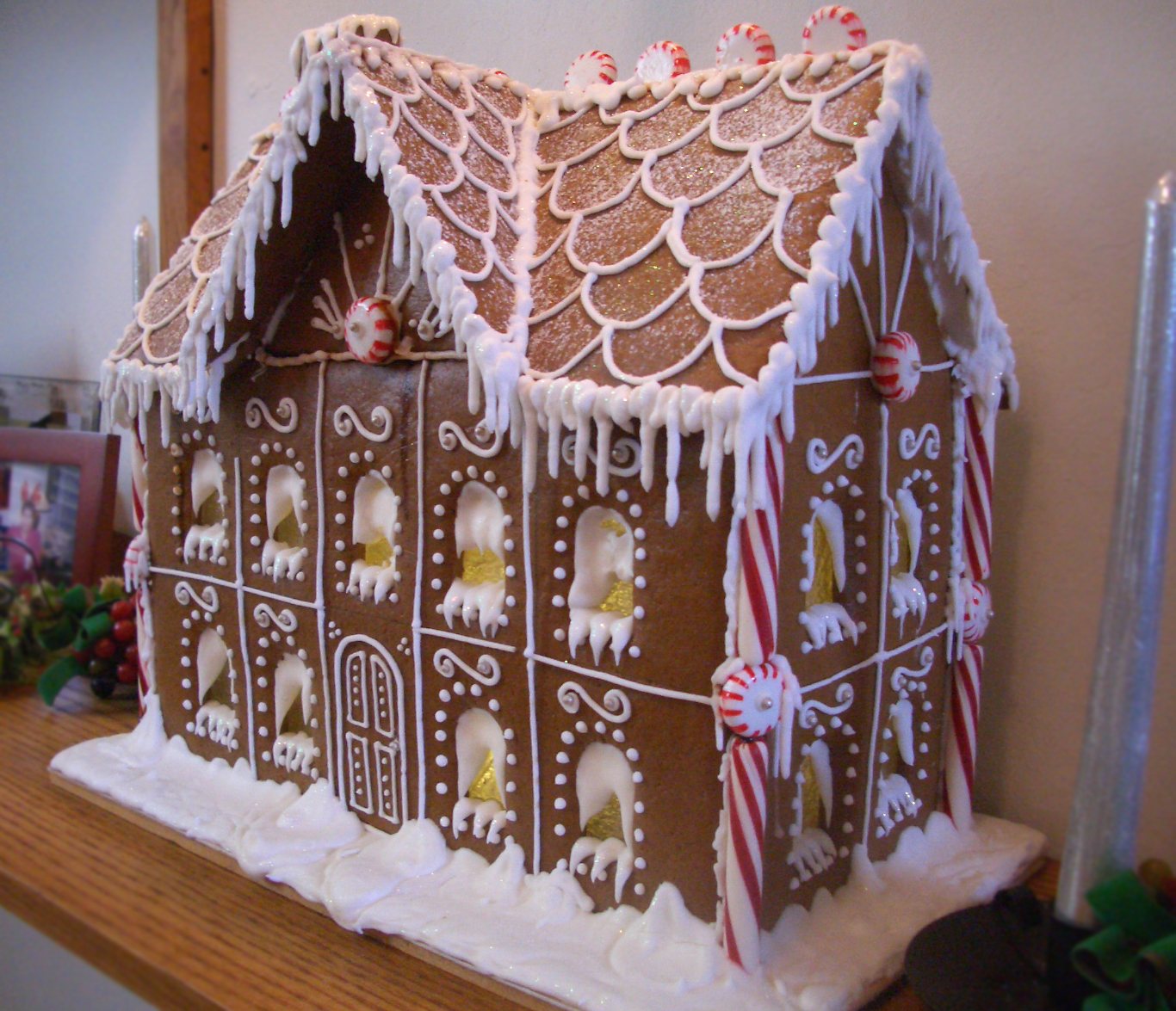 Two story gingerbread house pictures