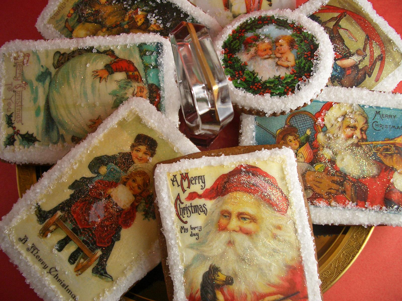 Vintage Christmas Postcard Gingerbread Cookies Goodies By Anna