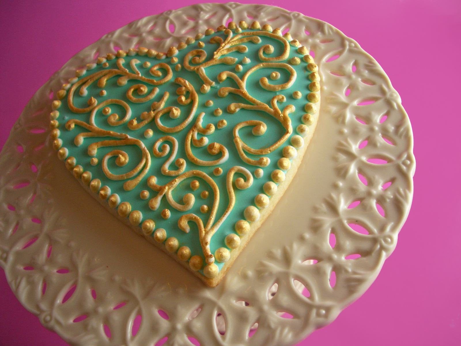Gilded Heart Sugar Cookies Goodies By Anna