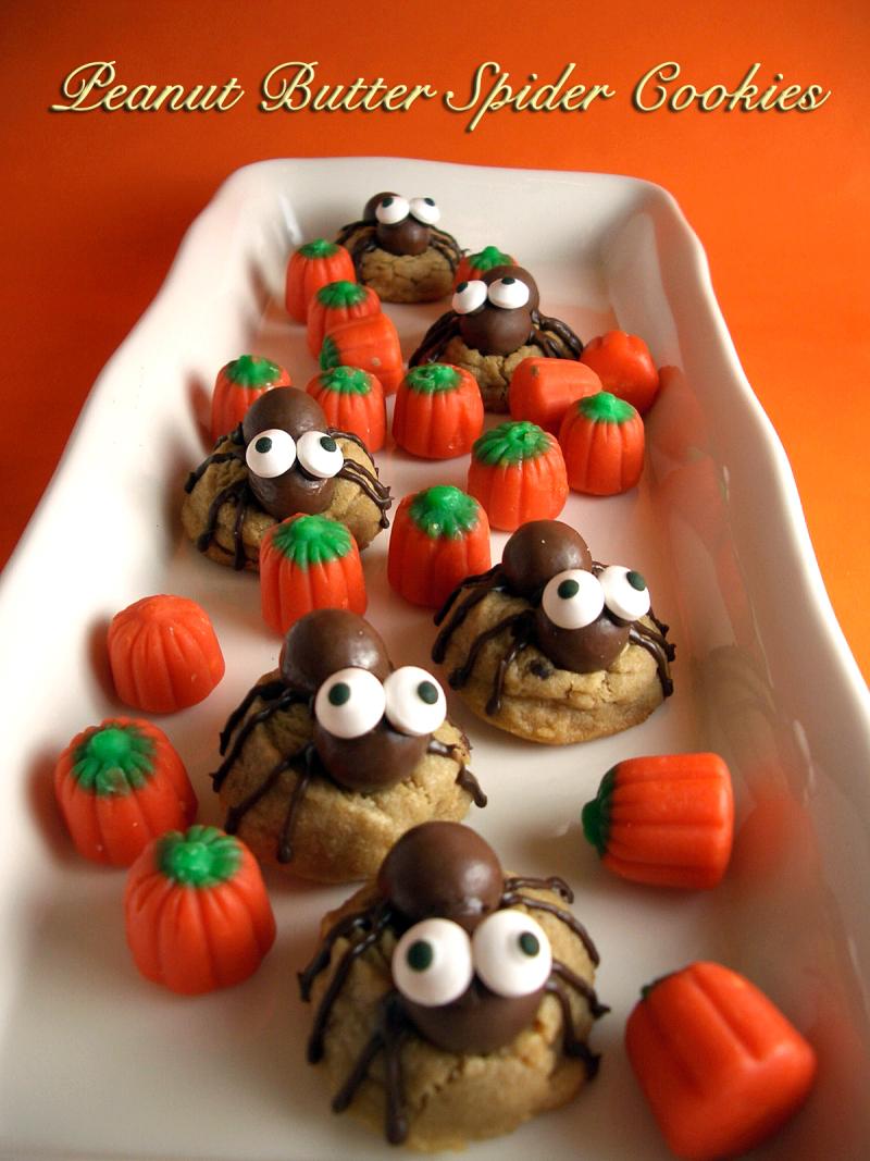 Peanut butter spider cookies verti